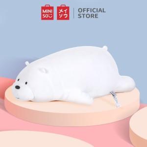 Harga miniso official boneka we bears bare lying plush toy mainan beruang   ice bear | HARGALOKA.COM