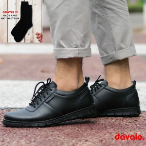 Harga sepatu pantofel casual formal pria like sneakers hitam d098 sol karet   | HARGALOKA.COM