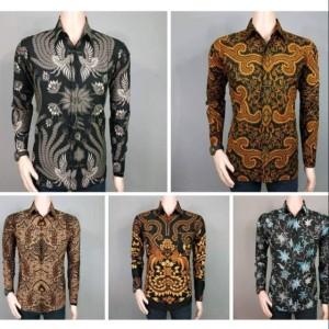 Harga kemeja pria hem batik atasan kantor baju kondangan ukuran   HARGALOKA.COM