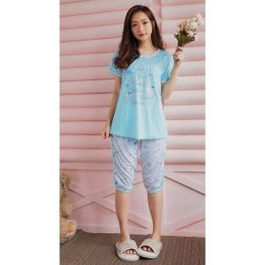 Harga baju tidur piyama wanita yumico bahan import kaos st   follow dreams   merah   HARGALOKA.COM