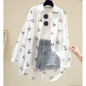 Harga kemeja polka blouse kerja baju kantor formal style pakaian terbaru | HARGALOKA.COM