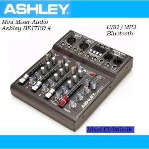 Harga mini mixer audio murah ashley better 4 channel usb dan | HARGALOKA.COM