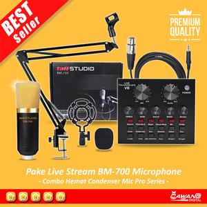 Harga paket microphone condenser bm700   bm 700 bm 700 sound card mixer | HARGALOKA.COM