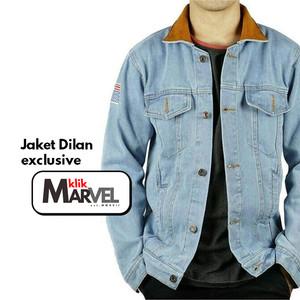 Harga promo murah jaket dilan jaket jeans denim pria best seller   biru muda | HARGALOKA.COM