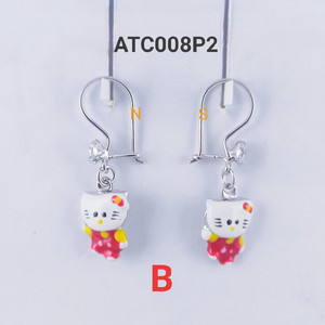 Harga anting anak hello kitty   perak silver   model | HARGALOKA.COM