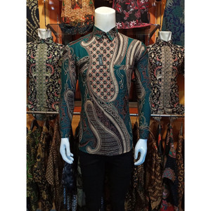 Harga kemeja batik pria slim fit modern   kode i   HARGALOKA.COM