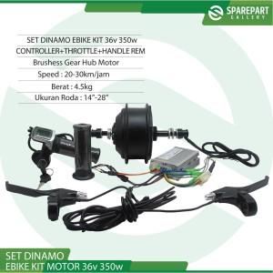 Harga set ebike kit dinamo motor bldc 36v 350w sepeda listrik jeruji | HARGALOKA.COM