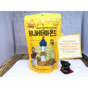 Harga honey butter almond nuts murgerbon no1 korean snack 200g termurah   honey | HARGALOKA.COM