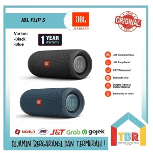 Harga original jbl flip 5 by harman kardon portable bluetooth speaker   | HARGALOKA.COM