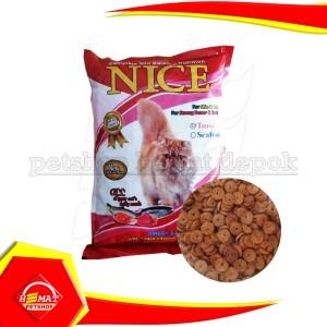 Harga makanan kucing nice cat 1 kg repacking murah non bolt maxi 1kg repack     HARGALOKA.COM