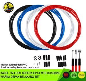 Harga kabel tali rem sepeda lipat mtb roadbike warna depan belakang set   | HARGALOKA.COM
