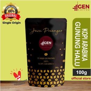 Harga kopi arabika gunung halu coffee jawa barat 100gr bubuk biji murah   | HARGALOKA.COM