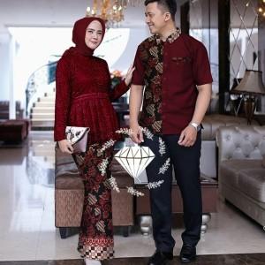 Harga kebaya batik couple setelan kebaya batik terbaru   | HARGALOKA.COM