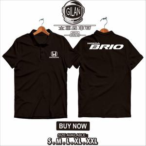 Harga polo shirt kaos kerah mobil honda new brio racing otomotif   gilan   | HARGALOKA.COM