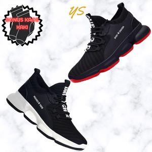 Harga sepatu sneakers import sport conxegn amp include box   merah | HARGALOKA.COM
