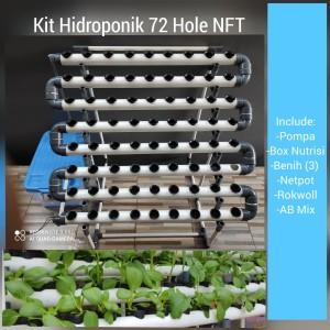 Harga kit hidroponik 72 hole nft plus | HARGALOKA.COM