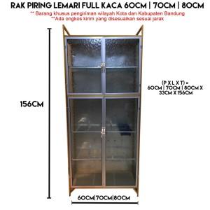 Harga rak piring lemari full kaca 2 pintu 60cm 70cm 80cm   60cm kota | HARGALOKA.COM