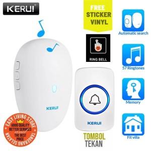 Harga kerui m521 smart doorbell bel rumah signal   HARGALOKA.COM