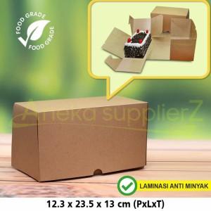 Harga cake box   kotak kue box lapis surabaya   slice isi 2 kraft | HARGALOKA.COM
