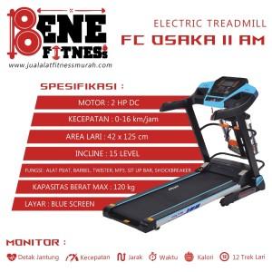Harga treadmill elektrik fc osaka ii am alat fitness olahraga fitnes | HARGALOKA.COM