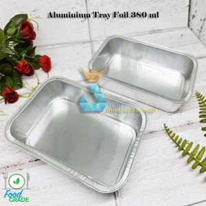 Harga premium aluminium tray foil 380 ml   wadah alumunium mentai makanan   | HARGALOKA.COM