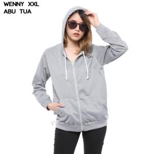Harga jaket hoodie wanita lengan panjang cewek polos | HARGALOKA.COM