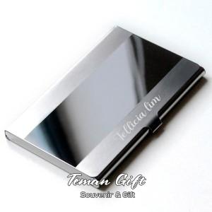 Harga name card holder ns 02 tempat kartu nama stainless bisa custom   silver tanpa | HARGALOKA.COM