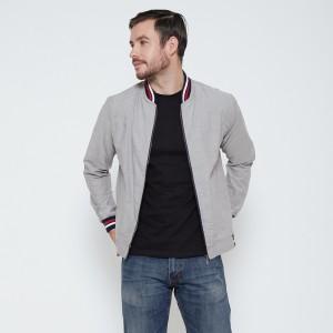 Harga m231 jaket pria oxford panjang warna abu 1768e   | HARGALOKA.COM