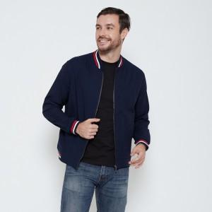 Harga m231 jaket pria oxford panjang warna navy 1768b   | HARGALOKA.COM