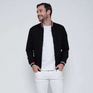 Harga m231 jaket pria oxford panjang warna hitam 1768a   | HARGALOKA.COM