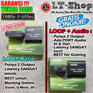 Harga hdmi video capture card usb support 1080p full hd with loop out   loop | HARGALOKA.COM