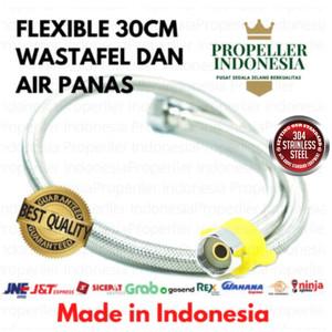 Harga selang fleksibel anyam washtafel propeller 30 cm bisa air | HARGALOKA.COM