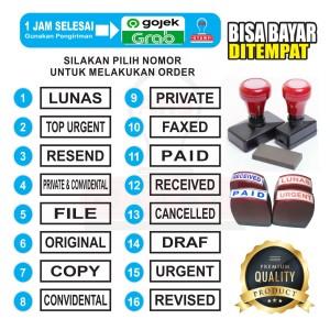 Harga stempel paid copy urgent cencelled stempel warna   1 3 x 4 3 | HARGALOKA.COM