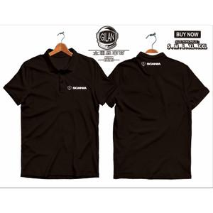 Harga polo shirt kaos kerah scania logo mobil truk bis racing | HARGALOKA.COM