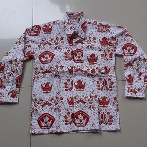 Harga seragam sekolah baju sd batik merah lengan panjang   6 | HARGALOKA.COM