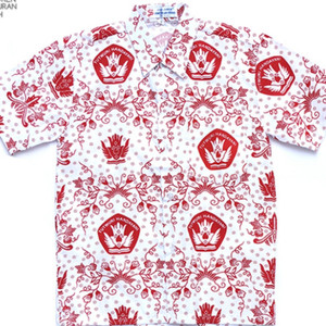 Harga seragam sekolah baju sd batik merah lengan pendek   6 | HARGALOKA.COM