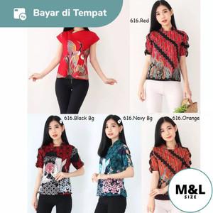 Harga dress baju atasan batik kerja kantor wanita cewek modern murah 0102   foto | HARGALOKA.COM