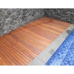 Harga murah lantai kayu decking bengkirai deck pool lantai kolam teras | HARGALOKA.COM