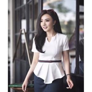 Harga besca blouse fashion wanita baju atasan dress kerja casual   | HARGALOKA.COM
