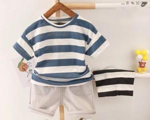Harga free ongkir cod baju anak laki laki setelan chino stripe 0 9 tahun   random warna 0 3 | HARGALOKA.COM