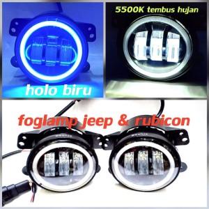 Harga fog lamp mobil lampu kabut sorot led variasi jeep cincin 4 34 30 w a108   | HARGALOKA.COM