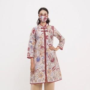 Harga cindy tbs d0233 dress kerja blouse batik wanita modern   | HARGALOKA.COM