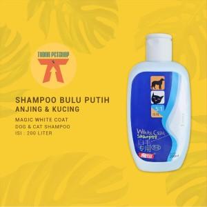 Harga shampoo anjing kucing magic white coat 200 ml   untuk bulu | HARGALOKA.COM