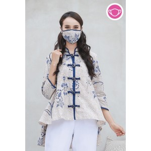 Harga amanda indigo t0567 baju atasan blouse batik wanita modern nonarara   | HARGALOKA.COM