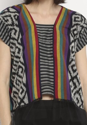 Harga blouse etnik wanita tenun nella lurik rainbow | HARGALOKA.COM