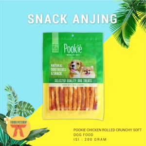 Harga snack anjing pookie jerky 200 gram collection for dog   crunchy | HARGALOKA.COM