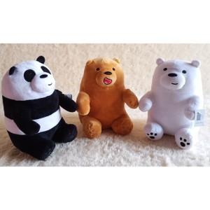 Harga boneka we bare bears   wbb ukuran m dan l   grizzlynwbrown2 | HARGALOKA.COM