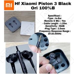 Harga handsfree xiaomi piston 3 balck original 100 | HARGALOKA.COM