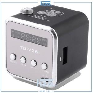 Harga speaker mini portabel fm radio tf card   td v26   | HARGALOKA.COM