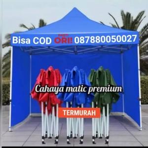 Harga tenda lipat matik premium uk 3x3 besi 1 2m sm dinding 3 sisi   | HARGALOKA.COM
